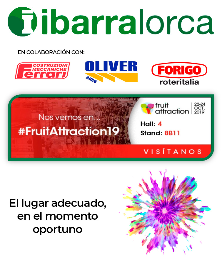 cartel fruit attraction 2019 ibarralorca